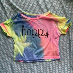 Happy Crop Top
